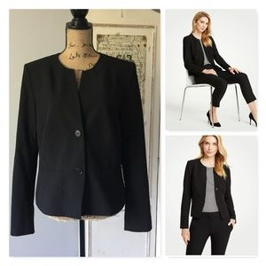 Ann Taylor collarless stretch blazer Sz 12 NWT